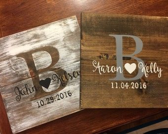 "12x12 Hand-Painted ""Piglet"" Rustic Wedding Display Board"
