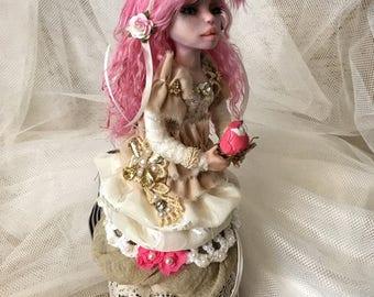 ooak artdoll fairy FUSCHIA BIRD