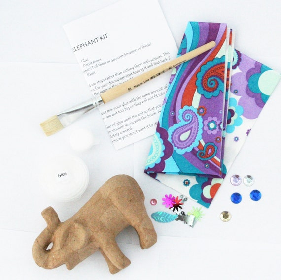 Decoupage elephant kit do it yourself decoupage papier mache decoupage elephant kit do it yourself decoupage papier mache elephant age 8 craft kit everything included birthday project free pp uk from solutioingenieria Choice Image