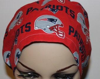 Women Surgical Cap, Chemo Cap, Scrub Hat, Patriots