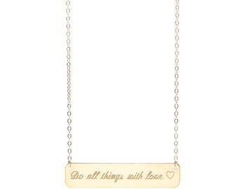 CUSTOM QUOTE BAR necklace - gold quote necklace - silver quote necklace - personalized quote necklace - inspirational quote necklace - quote