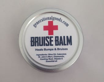 Bruise Balm for Bumps Bruises and Boo Boos Natural Herbal First Aid Care Athletes Sports Injuries Elderly