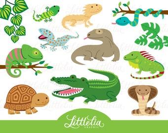 Reptile clipart - reptile cute - 16019