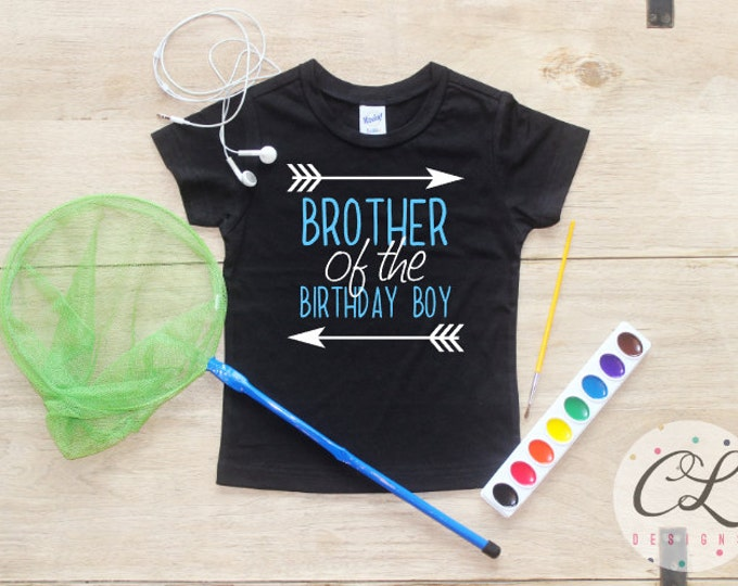 Brother of the Birthday Boy Shirt or Bodysuit / Brother of the Birthday Boy Shirt Sibling Party Shirt Little Brother Big Brother Shirt
