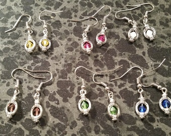 Petite Lantern Style Earrings - Pick Your Color
