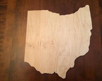 Thick Ohio wood cutout
