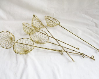 Vintage Wired Dipper Supply Set Vintage Crafts Vintage Air Plant Dippers Vintage Home and Living Decor Supplies Set of Six