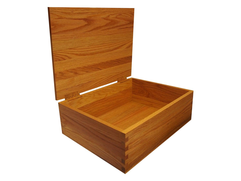 x large wooden keepsake memory storage box chest hinged lid. Black Bedroom Furniture Sets. Home Design Ideas