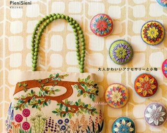 Cut Felt and Embroidery Bag n Accessories - Japanese Craft Book