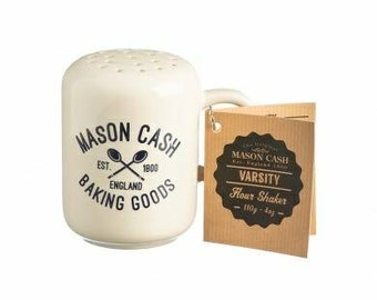 Mason Cash Varsity 4 oz. Flour Powdered Sugar Shaker Sifter English Stoneware Brand new!