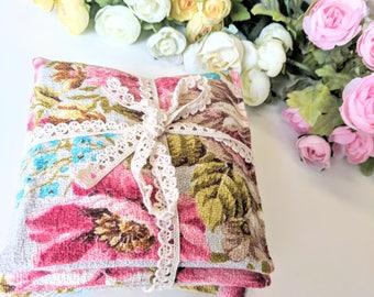 3 x Barkcloth Lavender Sachets, Lavenders Pillows, Scented Sachets, Scented Pillows, Scented Drawer Liner, Organic Lavender, Lavender Bags