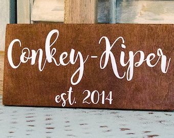 Established Sign - Family Name Signs - Rustic Wedding Signs - Custom Wood Signs - Personalized Signs - Name Signs - Last Name Signs