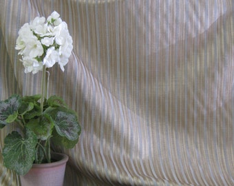 Teal and Taupe Stripe Fabric by P Collins