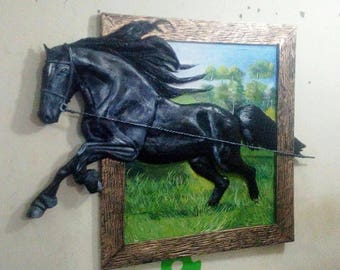 Relief Horse Painting