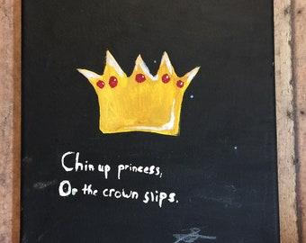 Chin Up Princess Painting