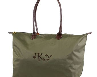 "21"" Nylon Tote Bag Oversize Tote, Monogram Tote  Monogrammed tote, Nylon Bag, Monogrammed Carry on, Overnight Bag"