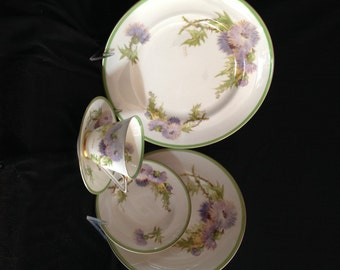 Royal Doulton 'Glamis Thistle' Porcelain 5-Piece Place Setting; Dinner Plate, Salad Plate, Bread & Butter Plate and Cup and Saucer Set