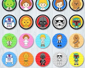 Star Wars Cupcake Toppers, Star Wars Cupcake Wrappers, Star Wars Party, Star Wars Cupcake Topper