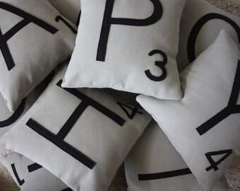 1 Scrabble Letter Pillow CASE ONLY // Pillow Cover // Pillow Case // Big Scrabble Letters // Monogram Pillow // Initial Pillow