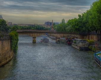 Paris Photography, River Seine, Paris Bridge, French Wall Art, Paris Decor