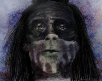 Digital painiting Westworld Akecheta portrait