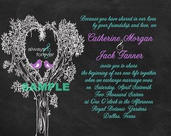 Wedding Invitations - Chalkboard Tree