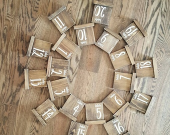 Table Numbers, Shabby Chic Wedding Table Numbers, Wooden Table Numbers, Wedding Table Numbers, Rustic Wedding