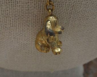 Vintage Gold Tone Dog Pendant