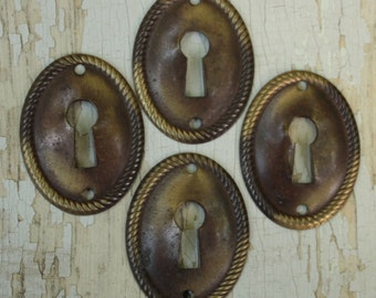 Key Hole Covers Escutcheon Vintage Decorative
