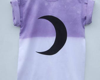Luna Moon Shirt - Pastel Goth Tumblr Clothing - Fairy Kei Crescent Moon Hipster Graphic Tee - 2 weeks pre-order