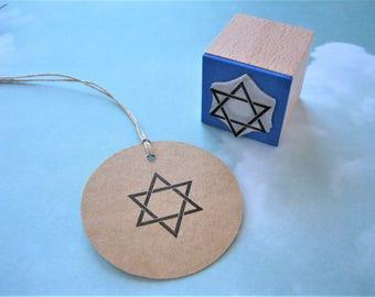 Star of David Stamp. Star of David Rubber Stamp. Star of David. Jewish Star. Shield of David. Magen David. Hexagram. Jewish Gift. Passover
