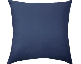 Solid Pillow Covers, Navy Couch Pillow Covers, Navy Throw Pillow Covers, Navy Blue Pillow Covers, Decorative Pillow, Navy Solid Throw Pillow