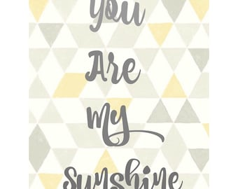 You Are My Sunshine, Digital Download, 8x10