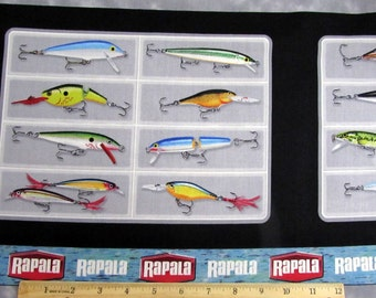 Per Panel, Rapala Fishing Lures Fabric From Quilting Treasures