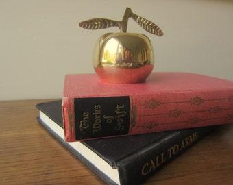 Bedside bell.  Vintage brass apple bell.  Dinner bell.  Call for help bell.