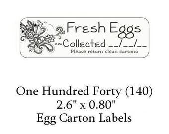 140 Floral Egg Carton  Labels