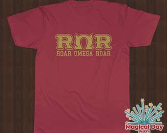 Disney Shirts - Roar Omega Roar (RΩR) Monsters University (Metallic Gold Design)