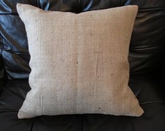 Burlap Pillowcase, Burlap Euro Shams - SELECT A SIZE