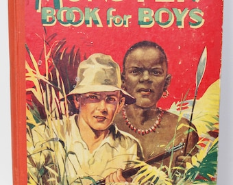 Vintage 1940's Monster Book For Boys