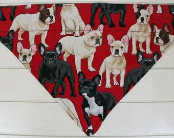 Dog Bandana, French Bulldog Bandana, Over The Collar Bandana, Dog Accessories, Dog Fashion, Dog Christmas Present, FREE UK SHIPPING