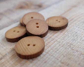 reclaimed oak wood buttons