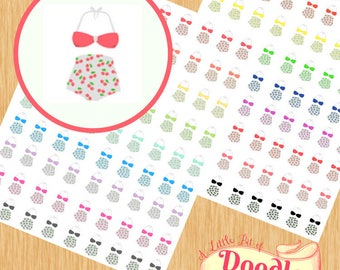"""1"""" Swimsuit Stickers