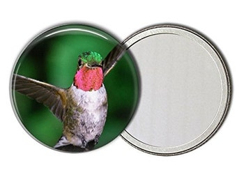 Hummingbird Pocket Mirror Purse Makeup Mirror