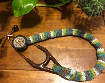 """Cover for 27"""" stethoscope blue/green/gray"""