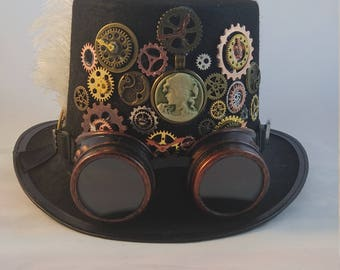 Cameo: Steampunk Top Hat with Goggles