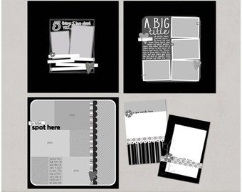 Sample Pack 15 - 12x12 Digital Scrapbooking Templates