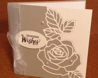 Meilleur de mariage carte de voeux carte à la main