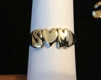 Thick 14k Solid Gold Ring with initials or name of your choice ( Personalized ) Any size