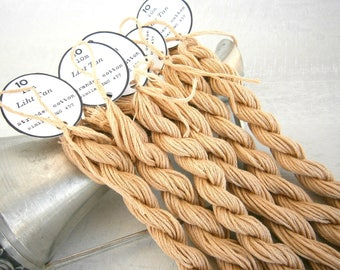 12 skeins Light Tan Embroidery Floss