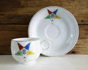 Masonic Easter Star Teacup and Saucer